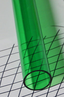 2 Inch Clear Green Acrylic Plexiglass Lucite Tube 2 Od 1 34 Id X 24 Long