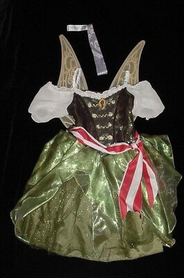 EUC Disney Store ZARINA PIRATE Tinkerbell Fairy Costume w/ Wings Sz 7/8 VHTF - Zarina Fairy Costume