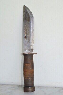 Vintage CATTARAUGUS 225Q WW2 Military Combat Knife Dagger & Leather Sheath