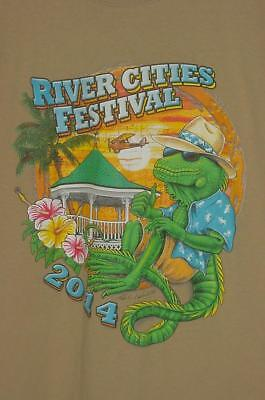 SUMMER SALE BI-PLANE GATORS RIVER CITIES FESTIVAL RIVER REGATTA PARTY T-SHIRT L - Party City Sale