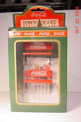 Town Square Coca Cola Christmas Park Benches #64319 NIB