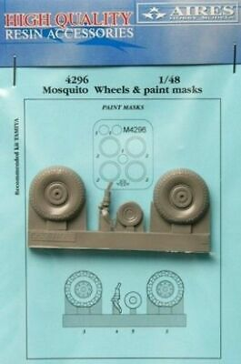 Aires 1:48 Mosquito Wheels Paint Mask for Tamiya Detail Set 4296