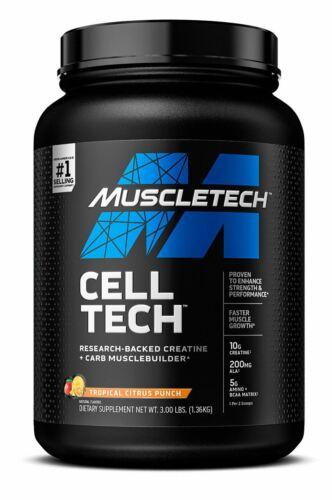 MuscleTech Cell-Tech Creatine Monohydrate Powder & Carb Mass