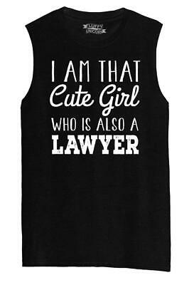 Mens I'm That Cute Girl Also Lawyer Muscle Tank Law School College Girlfriend