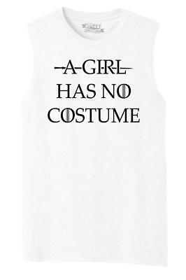Mens A Girl Has No Costume Muscle Tank Tv Movie Halloween Shirt - Mens Tv Movie Halloween Costumes