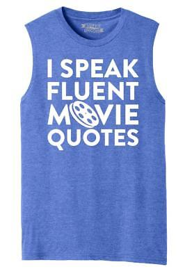 Mens Tv Shows (Mens I Speak Fluent Movie Quotes Funny Gift Tee Muscle Tank Tv Shows)