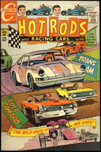 "HOT RODS AND RACING CARS #97 1969 FN/VF ""Boss Camaro"" ""Trans Am"" CHARLTON COMICS"