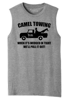 Mens Camel Towing Rude Humor Funny Shirt Muscle Tank Truck Sex Party (Funny Tanks Men)
