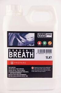 Valet Pro Dragons Breath 1L De-Ironiser Iron X Contaminant Removal ValetPro