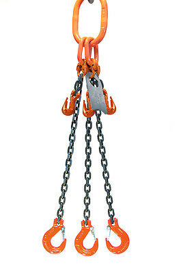 Chain Sling - 932 X 10 Triple Leg With Sling Hooks And Adjusters - Grade 100