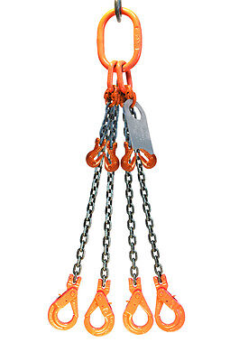Chain Sling 932 X 5 Quad Leg Positive Locking Hooks Adjusters Grade 80