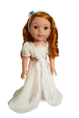 Doll Clothes 14.5 Inch Dress Ivory Victorian Fit 14.5