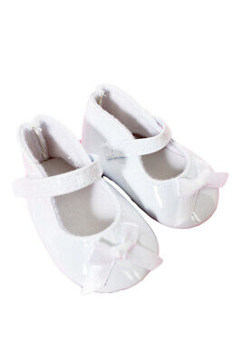 White Patent Bow Mary Janes for American Girl Dolls