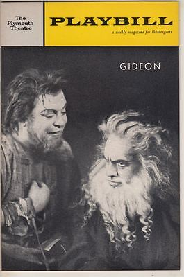 "Fredric March  ""Gideon""   Playbill   Broadway   1962   Paddy Chayefsky"