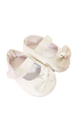 Off- White Matte Bow Mary Janes for American Girl Dolls