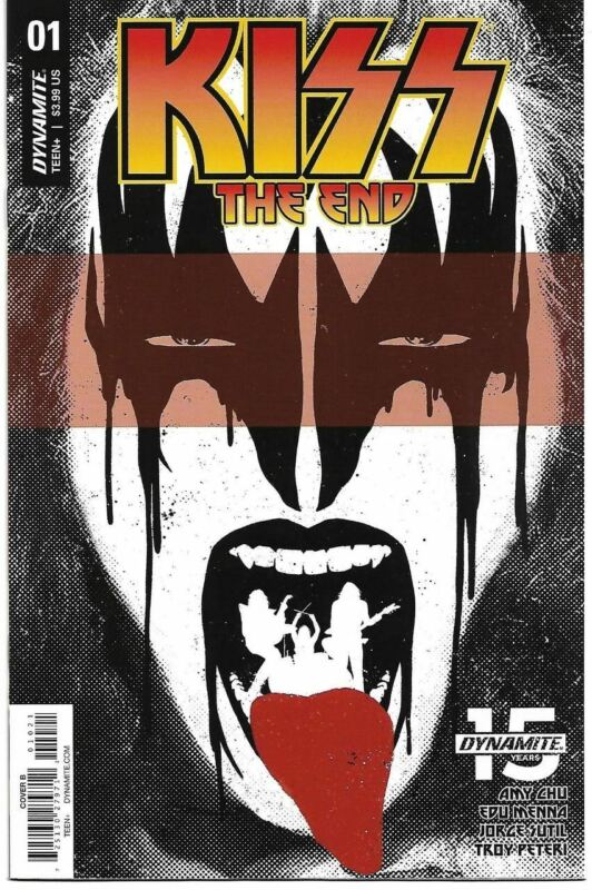KISS THE  END #1, 2, 3, 4 & 5  (DYNAMITE 2019) B COVERS