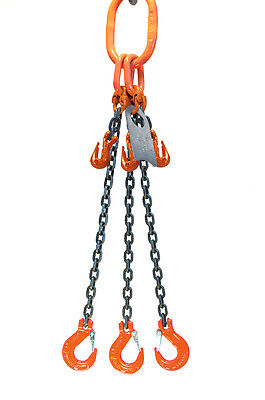 Chain Sling - 516 X 6 Triple Leg With Sling Hooks And Adjusters - Grade 100