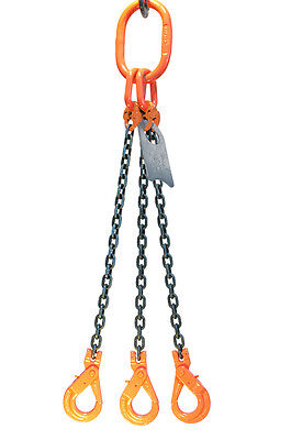 Chain Sling - 38 X 6 Triple Leg With Positive Locking Hooks - Grade 100