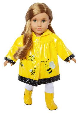 Bumble Bee Raincoat for American Girl (Bee Raincoat)