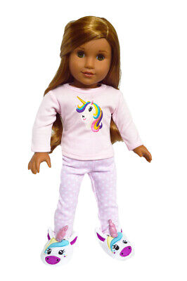 Unicorn Pajamas for American Girl Dolls Clothes 18 Inch Doll Clothes