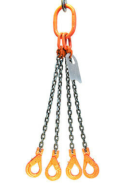 Chain Sling - 38 X 10 Quad Leg With Positive Locking Hooks - Grade 100