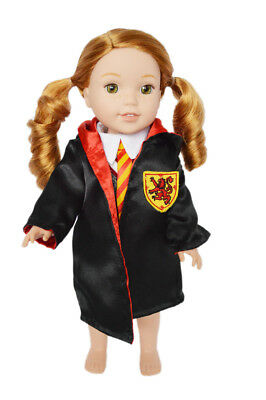 Hermoine Wizard Inspired Costume for Wellie Wisher Dolls