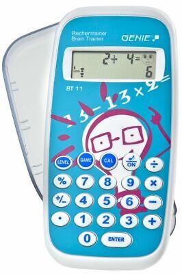 GENIE BT11 Rechentrainer Mathetrainer Mathe Lernspiele Kinder Taschenrechner NEU (Taschenrechner Spielzeug)