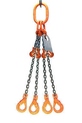 Chain Sling 12 X 10 Quad Leg Positive Locking Hooks Adjusters Grade 80
