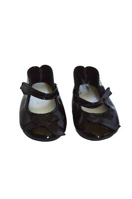 Black Patent Bow Mary Janes for American Girl Dolls 18 Inch Doll Clothes