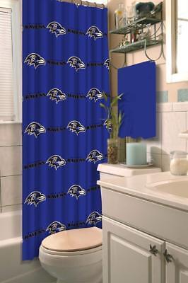 NFL Football Baltimore Ravens Shower Curtain 72