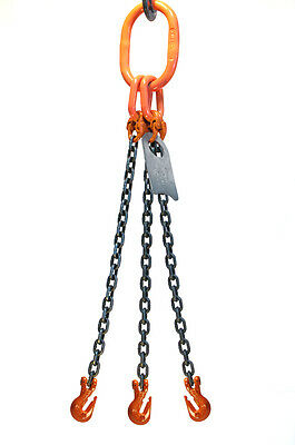 Chain Sling - 38 X 5 Triple Leg With Grab Hooks - Grade 100