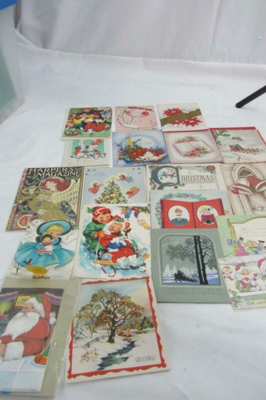 20 ANTIQUE/VINTAGE CHRISTMAS AND NEW YEAR CARDS 7 USED 30