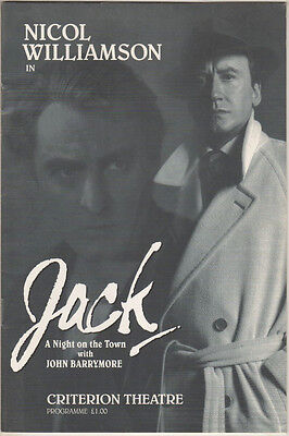 "Nicol Williamson  ""Jack""  London Playbill 1994 John Barrymore"