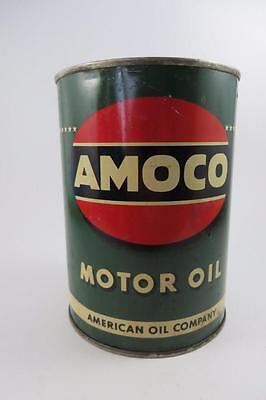 VINTAGE AMOCO MOTOR OIL CAN AMERICAN OIL COMPANY 1 QT.
