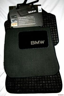 2001 TO 2006 BMW 325Ci/330Ci COUPE Carpeted Floor Mats - FACTORY OEM  - BLACK