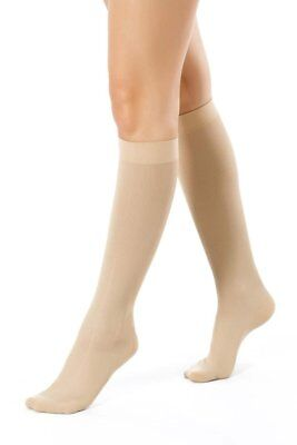 Medical Anti-Fatigue Calf Compression Flight Socks for Ladies - beige size 2