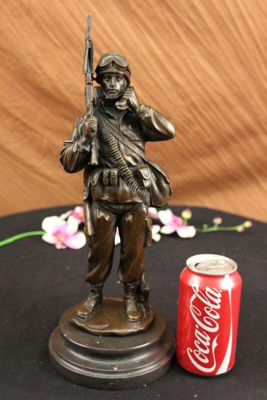 Vietnam War Memorial Joe American Soldier Classic Bronze Sculpture Statue Figure