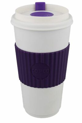 Copco Original To-Go-Cup With Leakproof Lid BPA Free Plastic 16 Oz Purple White 16 Oz White Plastic Cups