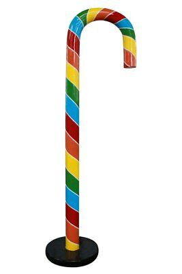 Candy Cane Props (Candy Cane 6.5 ft Rainbow Over Sized Resin Prop Decor)