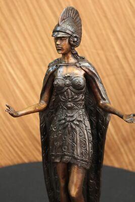 Art Déco Romano Femenino Warrior Bronce Escultura Estatua Decorativa Hot Reparto