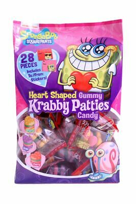 Gummy Krabby Patty (Spongebob Squarepants Heart Shaped Gummy Krabby Patties, Valentine's 28)