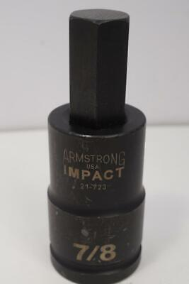 New Armstrong 34 Drive 78 Hex Bit Impact Socket. Usa  Made