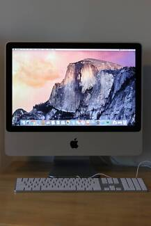 """iMac 20"""" upgraded with 250GB SSD HD"""