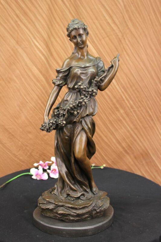Demeter Greek Goddess of Harvest Bust Figurine Statue Genuine Real Bronze DEAL