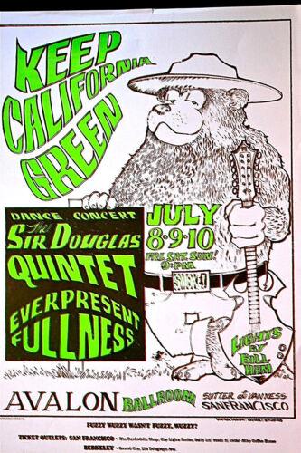 PRO POT GREEN-IN 1966 - FD16 - Mouse/Kelley  AVALON BALLROOM - 1ST PRINTING