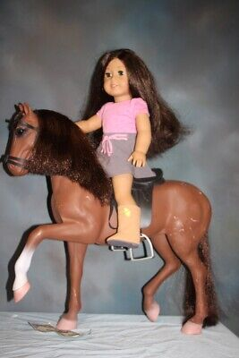 American Girl Doll Long Brown Hair w/Horse & Saddle Cowgirl Boots Brown Eyes for sale  Shipping to Canada