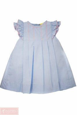 Petit Ami Baby Girls Blue & Pink Ruffle Wing Angel Dress*Perfect for Easter!*
