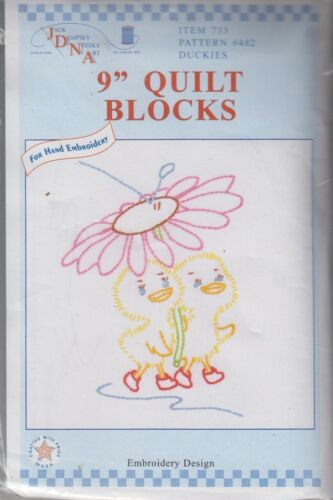 1 Jack Dempsey Duckies Stamped Embroidery Quilt Blocks