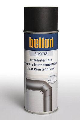 Belton Hitzefester Lack schwarz 0,4l - Hitzefest Lackspray Grill Ofen Sprühlack