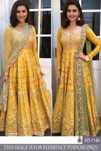 gown indian pakistani wedding party wear ethnic salwar kameez suit dress design.